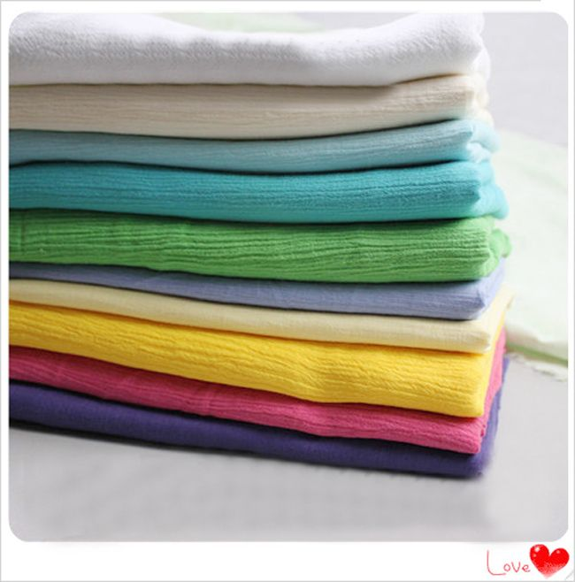 Cheap material dental, Buy Quality material insulation directly from China shirts material Suppliers: wholeale ethnic crinkled cotton crepe fabric curtains dress shirts cloth solid cotton wrinkled material