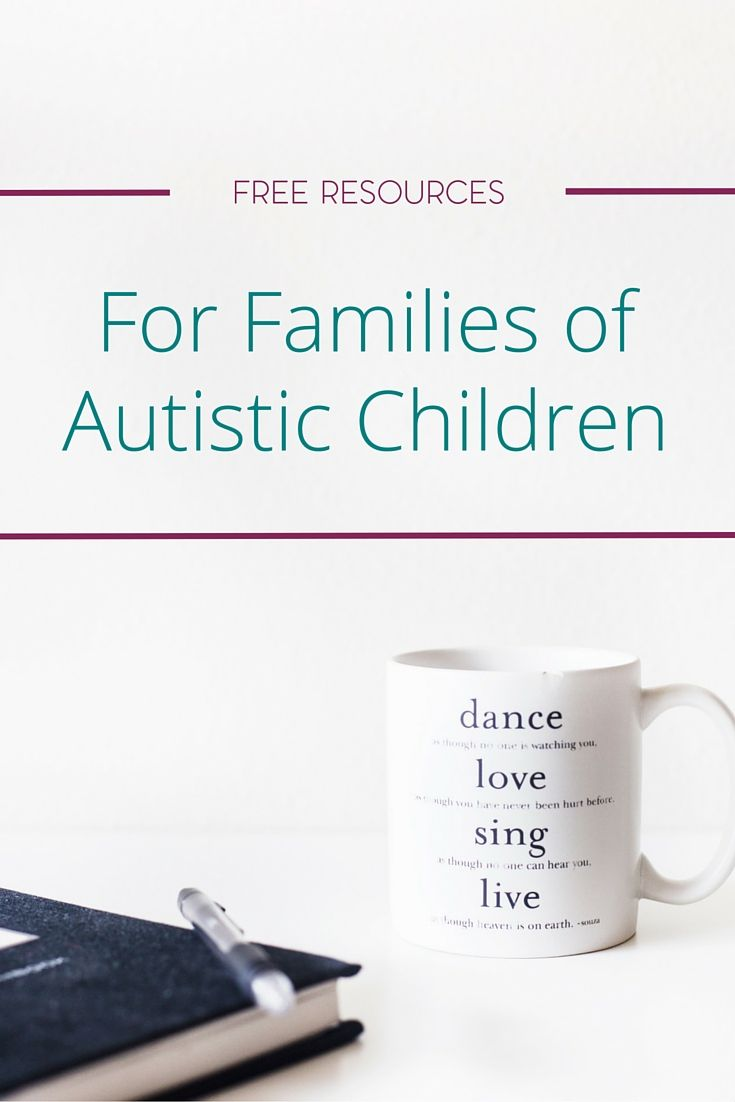 As the rate of the autism diagnosis continues to rise, more families are on the lookout for information and help. I've gathered together just a few free resources for families of autistic children to help you in this initial stage of the journey.