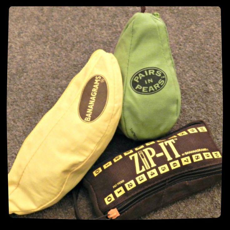 Bananagrams, Pairs In Pears, & Zip-It
