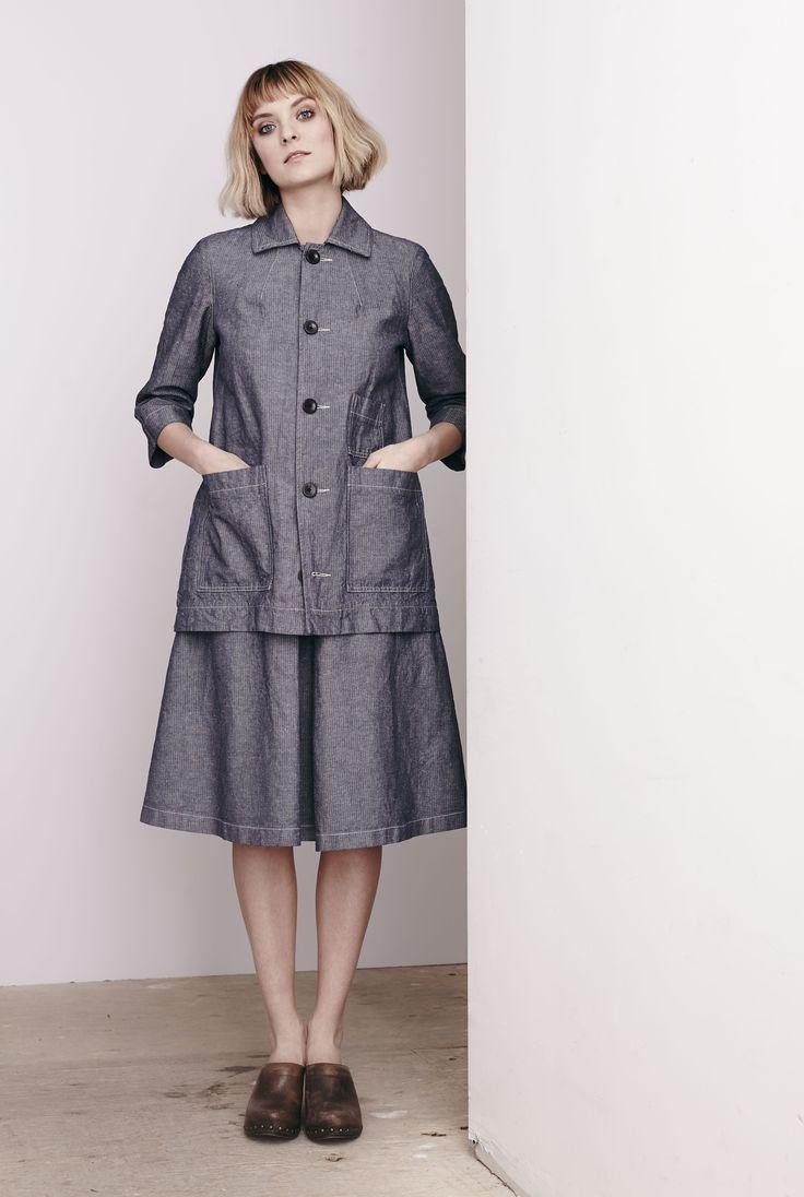 Washed Herringbone Nino Coat and Reform Skirt  www.comrags.com