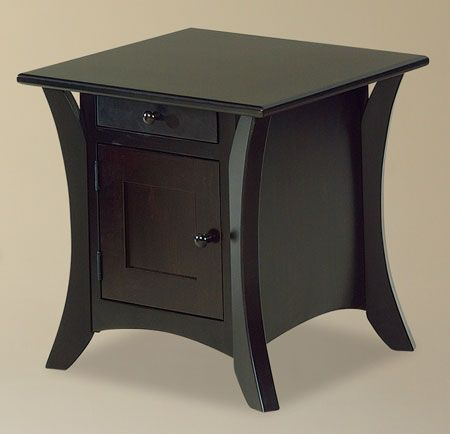You'll save on every piece of furniture at Amish Outlet Store! We custom make every item, and you can get the Caledonia End Table in Cherry with any wood and stain.