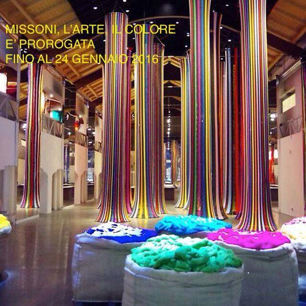 "MISSONI,Italy, ""L'ARTE IL COLORE"" at Museo Maga, pinned by Ton van der Veer"