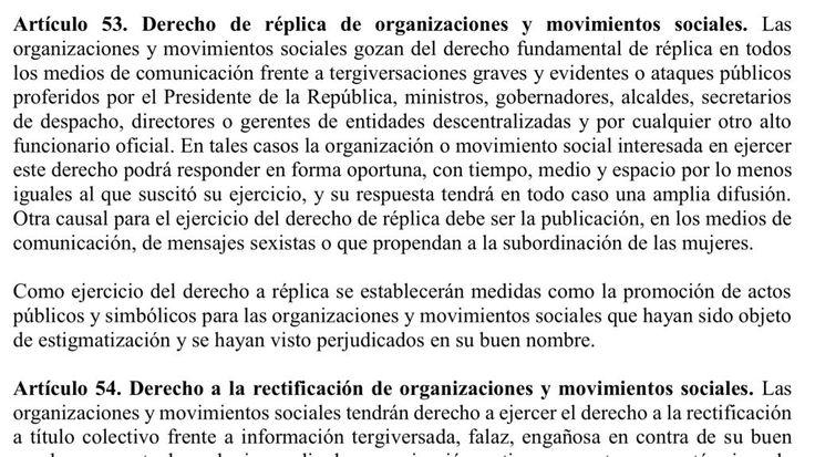 Gravísima denuncia deMarta Lucía Ramírez Borrador proyecto ley para fast track. Obligar contenidos en los medios es censura.