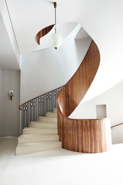 Gorgeous #staircase #wood #metal Peter Mikic