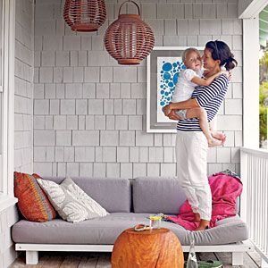 Live Large in Small Spaces | Take It Outside | CoastalLiving.com I just wish it wasn't so windy here and maybe a little warmer.