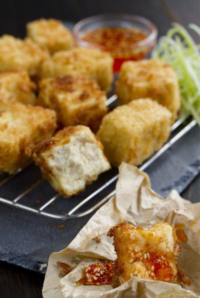 Tofu frito con salsa agridulce de pimiento rojo -  Receta de Tofu Frito con Salsa Agridulce de Pimiento rojo, un plato que se puede preparar como aperitivo, ideal para salir de la rutina, una forma muy buena de probar nuevos ingredientes y sabores diferentes.