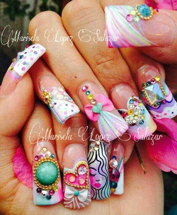 25 best ideas about sinaloa nails on pinterest bling for 3d nail art salon new jersey