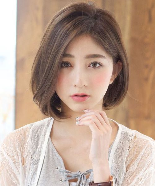 new cute short bob hairstyles 2018 for japanese and korean girls