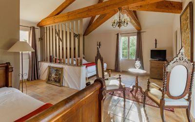 Une des chambres d'hôtes à vendre à Vitrac près de Sarlat en Périgord