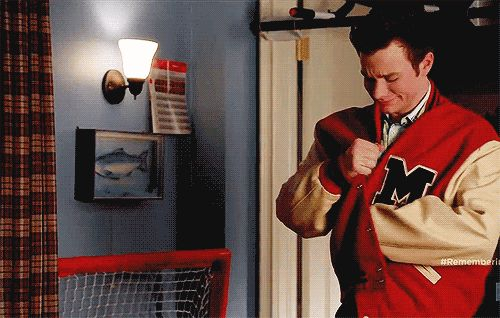 """And Kurt didn't want his step-mom to give away Finn's letterman jacket. 