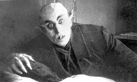 """Max Schreck as Count Graf Orlok (Nosferatu):  """"Is this your wife? What a lovely throat."""""""