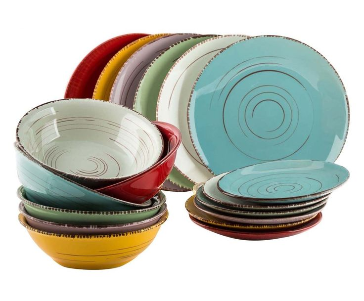 Service 18 pièces CASCINA, grès - multicolore | Westwing Home & Living
