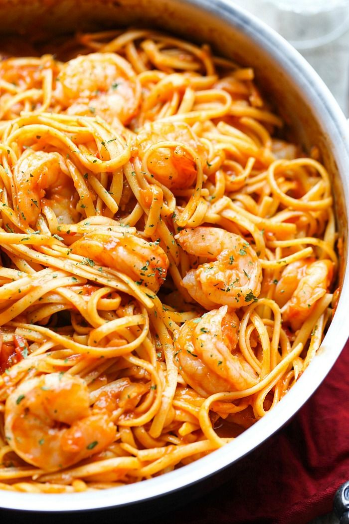 One Pot Shrimp Pasta FoodBlogs.com