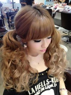 adult high curly pigtails - Google Search