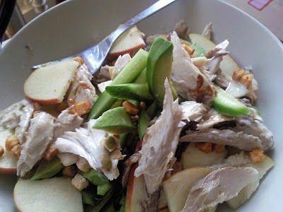 Eten is weten ...: 92 - salade met avocado en makreel. Heel erg lekker!