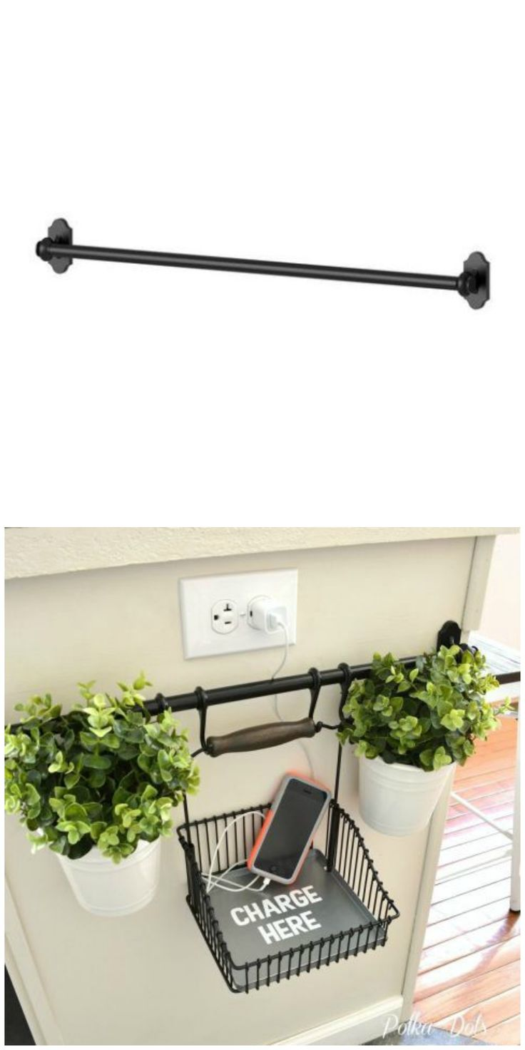 The Fintorp rail also doubles as a charging station in this neat IKEA hack.
