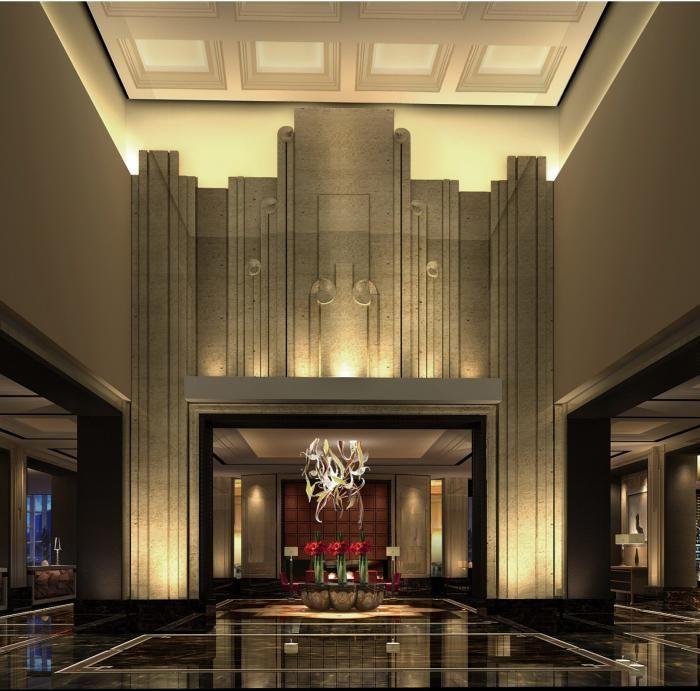 astounding art deco blend ...., especially the lighting and floor…