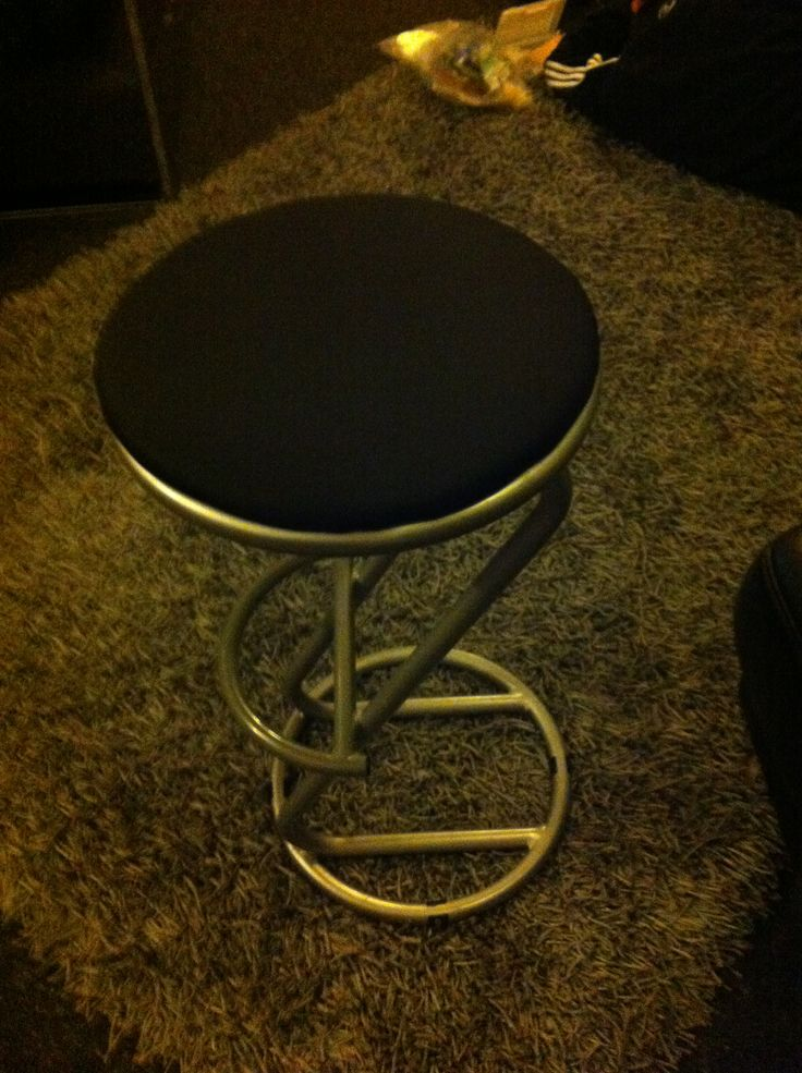 Bar stool x2 replaced cover plastic with waterproof black
