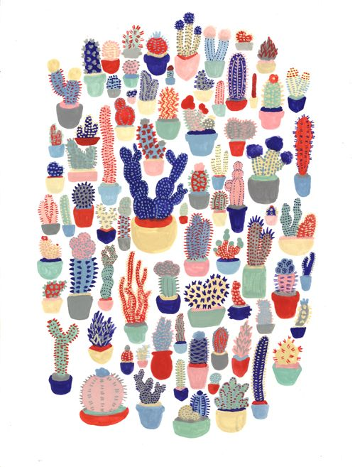 succulents print... pinned from Tumblr... no idea of original source :(