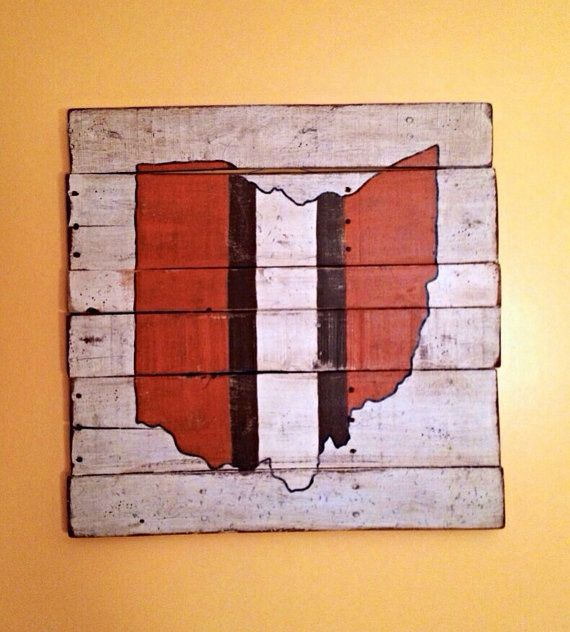 Cleveland Browns / State of Ohio Wall Hanging by PalletsandPaint, $40.00
