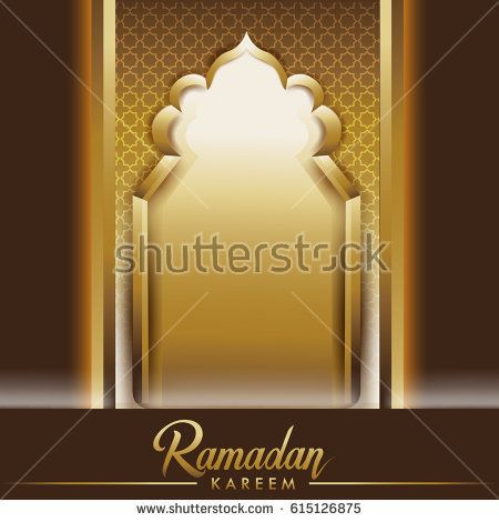 Ramadan Background mosque window with arabic pattern, Elegant element for design template, place for text Ramadan kareem