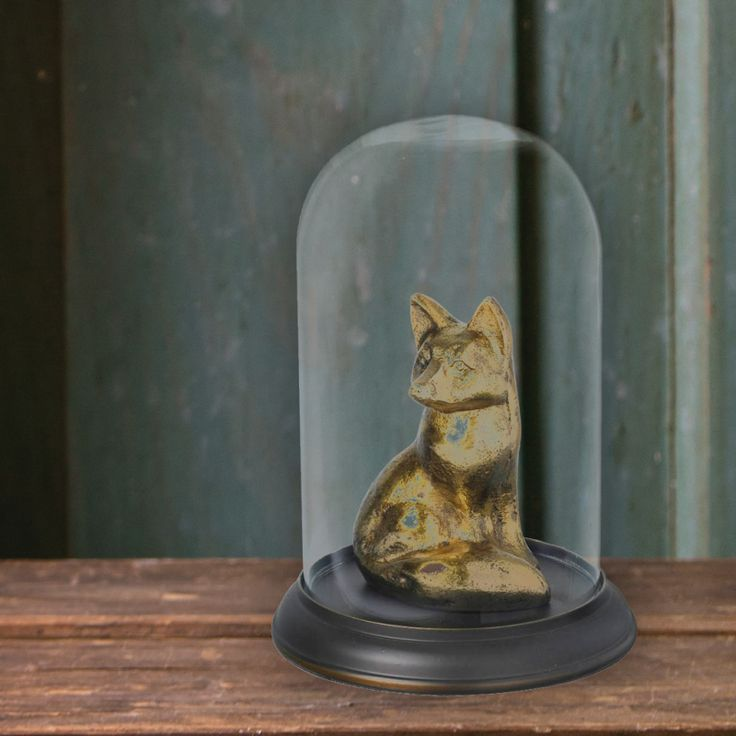 #gilded #fox #dome #vintage #victorian
