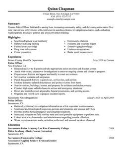 Police officer resume example examples of resumes les 25 meilleures ides de la catgorie police officer resume sur thecheapjerseys Gallery