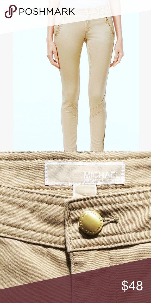 Michael Kors tan skinny jeans New Michael Kors Tan skinny jeans. Size 12 . Comfortable  stretch fabric for a perfect fit! Michael Kors Jeans Skinny