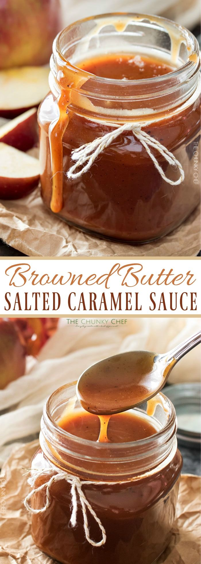 Browned Butter Salted Caramel Sauce   Browned butter gives this homemade salted…