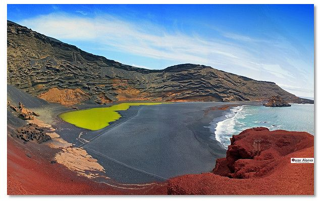 "El Golfo, Lanzarote, Canary Islands.  I've been obsessed since watching the film ""Broken Embraces""."