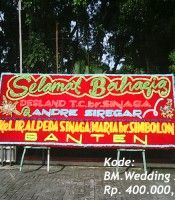 Karangan Bunga Wedding di Wisma Tosin JL.Bunga Terompet Medan