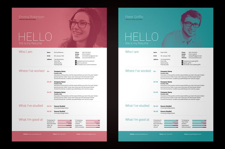 My Resume/CV & Cover Letter - Easy edit Template - V1 by bilmaw creative on Creative Market