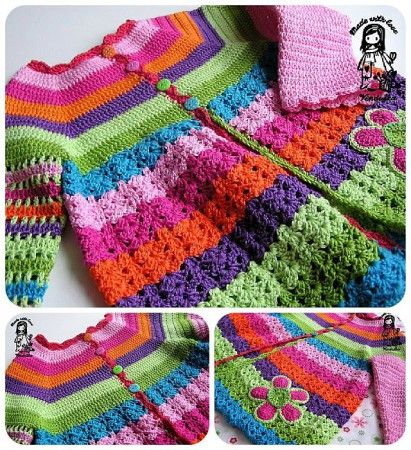 Flower Cardigan Free Pattern Revised Version Crafts Crochet