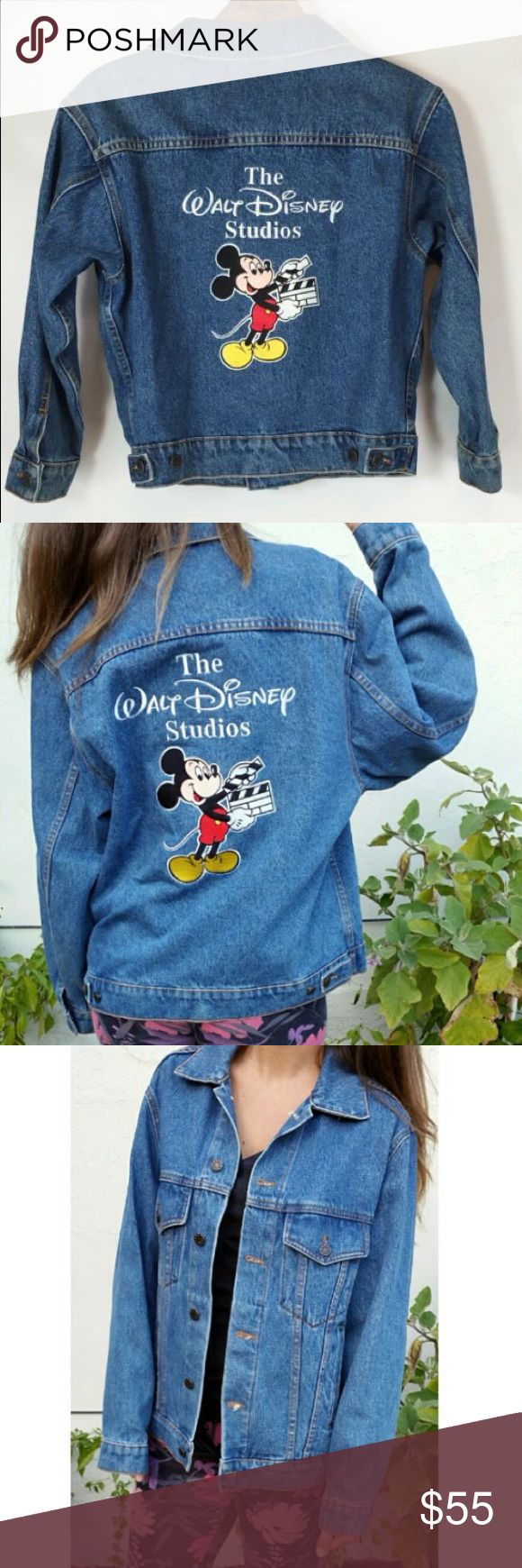 Vintage Walt Disney Studios jean jacket So so so cute! Bought this on impulse in hopes of wearing it to Disneyland but I have yet to go haha. Very thick and great quality. Can't be found anywhere else. Perfect condition! Urban Outfitters Jackets & Coats Jean Jackets