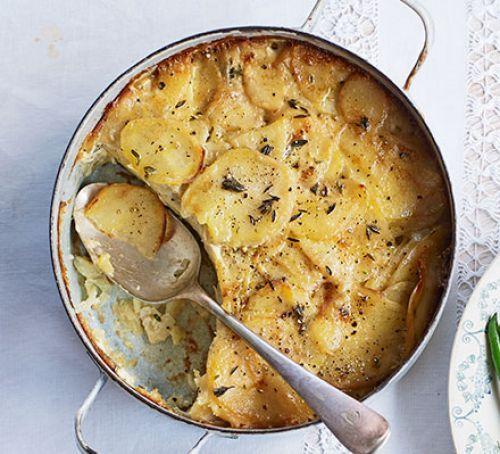 Lemony potato gratin