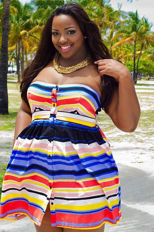 ilikeemthick:    SamanthaDModelPlussize, Summer Dresses, Beautiful, Plus Size Fashion, Funky Fashion, Size Models, Curvy Style, Fashion Cake, Curvy Fashion
