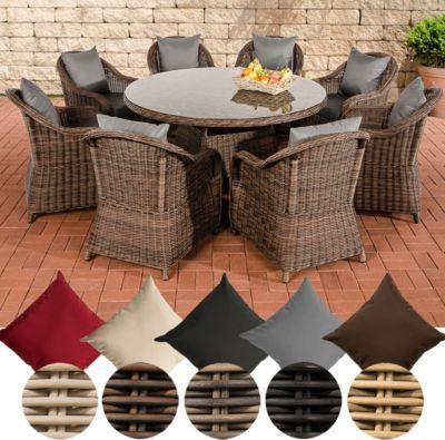 Polyrattan Sitzgruppe STAVANGER XL braun-meliert (8 Sessel + Tisch rund Ø 150 cm + Sitzauflagen) Jetzt bestellen unter: https://moebel.ladendirekt.de/garten/gartenmoebel/gartenmoebel-set/?uid=108c1337-6bd1-5c60-aef8-01ddffb8f3ad&utm_source=pinterest&utm_medium=pin&utm_campaign=boards #garten #gartenmoebel #gartenmoebelset