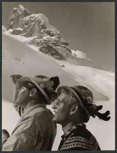 Title: [Two Mountaineers]  Artist/Maker(s): Paul Wolff (German, 1887 - 1951)  Dr. Wolff & Tritschler OHG (German, 1927 - 1963)  Culture: German  Place(s): Germany (Place created)  Date: 1930 - 1940