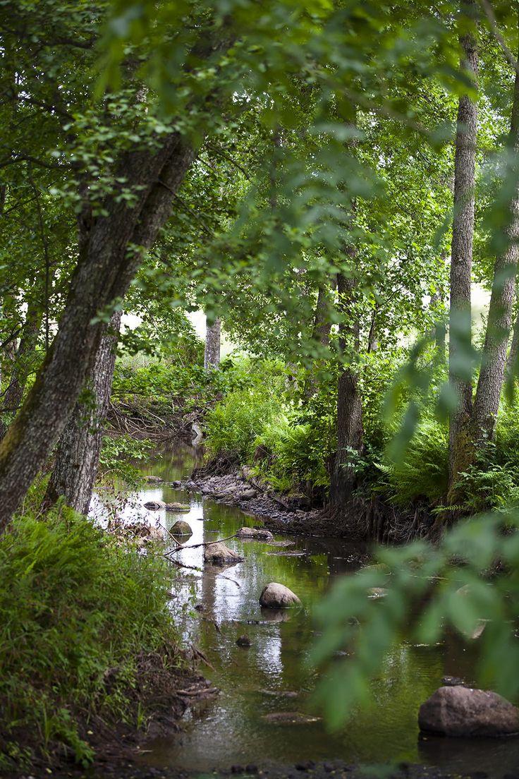 Nature in Fiskars Village in Raseborg, Finland