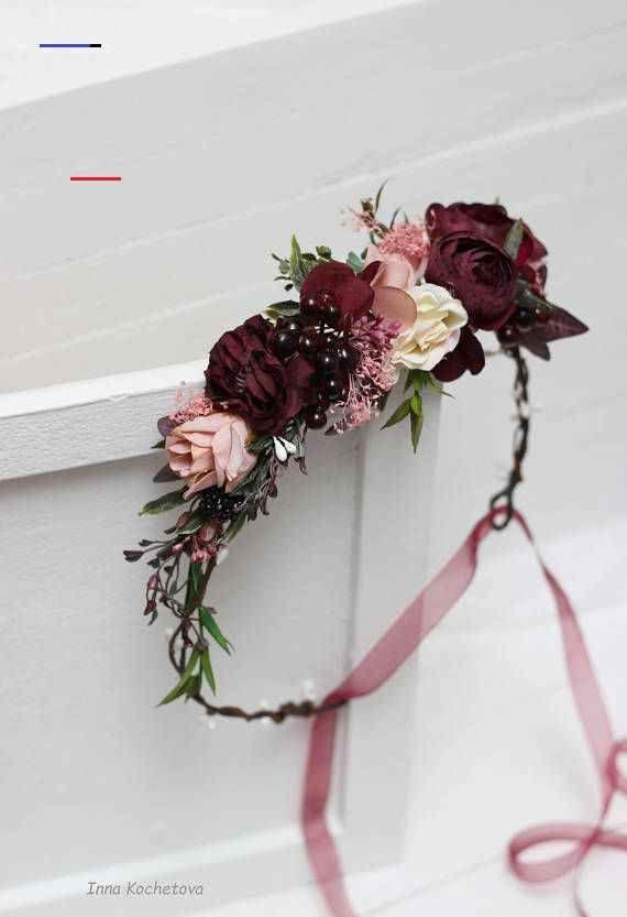 Maroon Blush Pink Flower Crown Burgundy Floral Headpiece Etsy Floralheadpiece In 2020 Blumen Kopfschmuck Hochzeit Blumenkrone Kopfschmuck Hochzeit