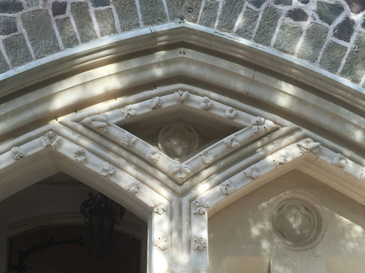 Front porch stonework