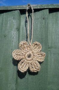 Crochet with Jute Twine   Details about 2 x Handmade crochet flower jute twine, embellishment ...