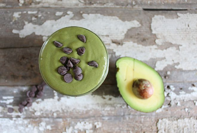 Nutrition Stripped | Mint Chocolate Chip Green Smoothie | http://nutritionstripped.com
