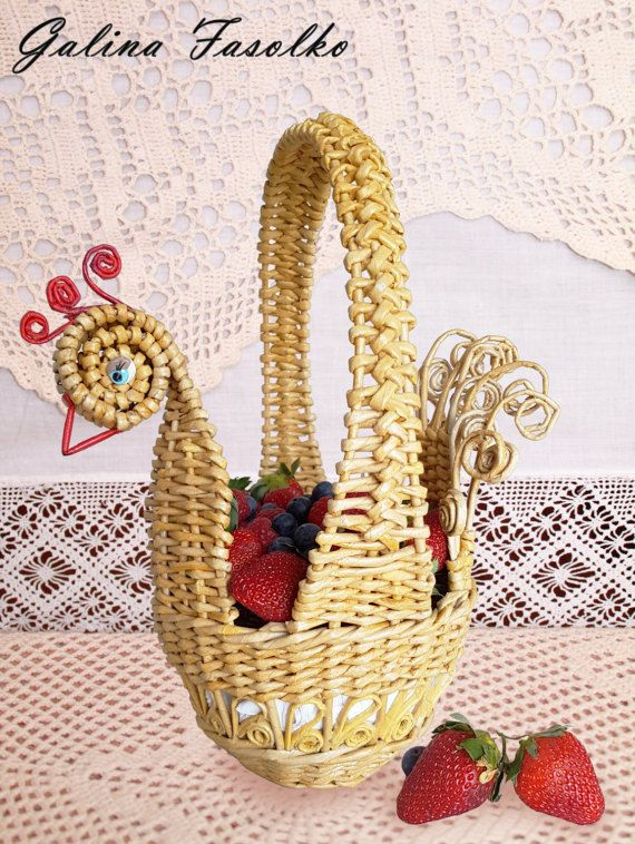 Small wicker basket/ Unique easter baskets/Easter baskets for