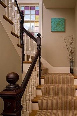 redo of stairwell at Riverside? light walls, dark stair rail.