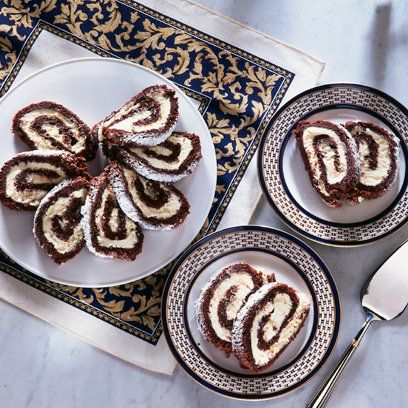 Mary Berry's Chocolate Roulade. For the full recipe and more, click the image or visit Redonline.co.uk