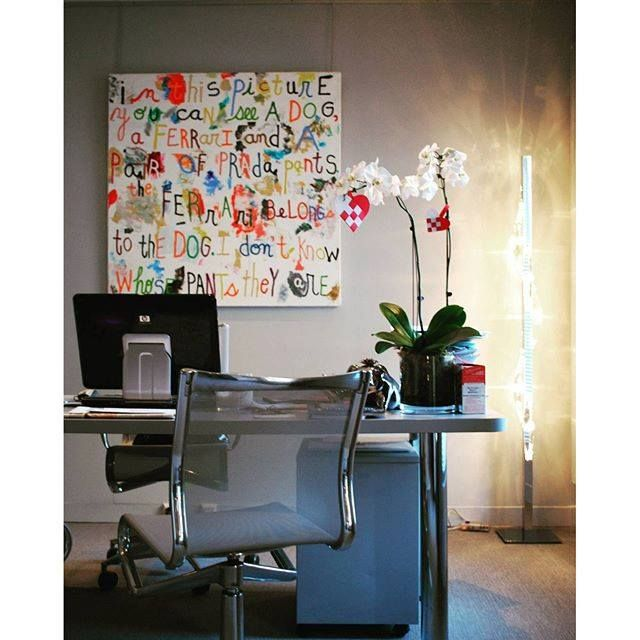 Exquisite office in Paris Hortensia floor lamp by ISAAC LIGHT  www.isaaclight.com  /  #lighting #office  #project #interiordesign