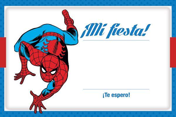 Invitación Spiderman Hombre Arañana Invitación Para Imprimir