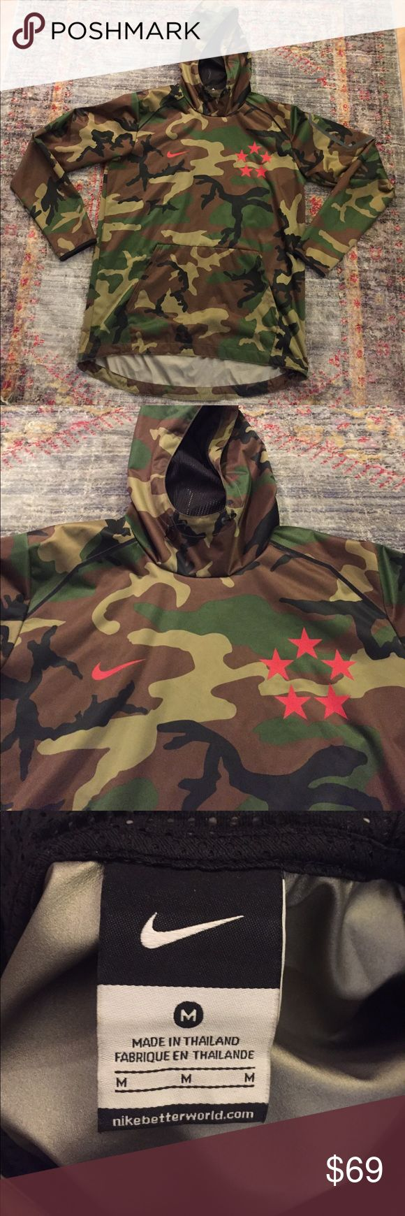 Nike waterproof cortex pullover jacket Mens nike camouflage waterproof/windproof pullover jacket. Never worn, excellent condition. Optional drawstring bottom, left shoulder pocket, mesh lined hoodie pocket. Deadstock. Nike Jackets & Coats Raincoats