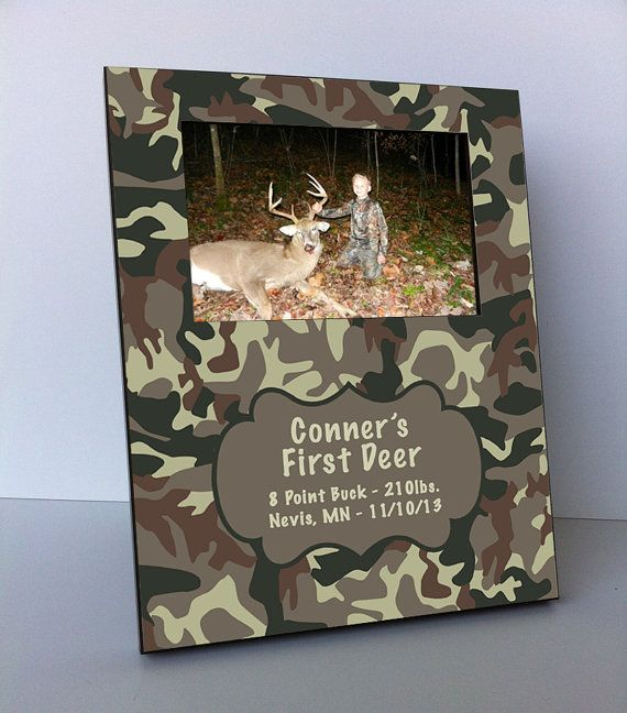 Personalized Picture Frame - My First Deer Camo Picture Frame, camo, camoflauge, camouflage